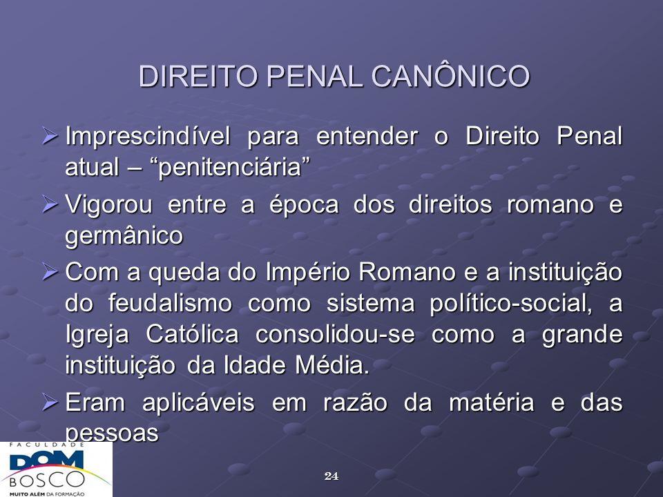 DIREITO PENAL CANÔNICO