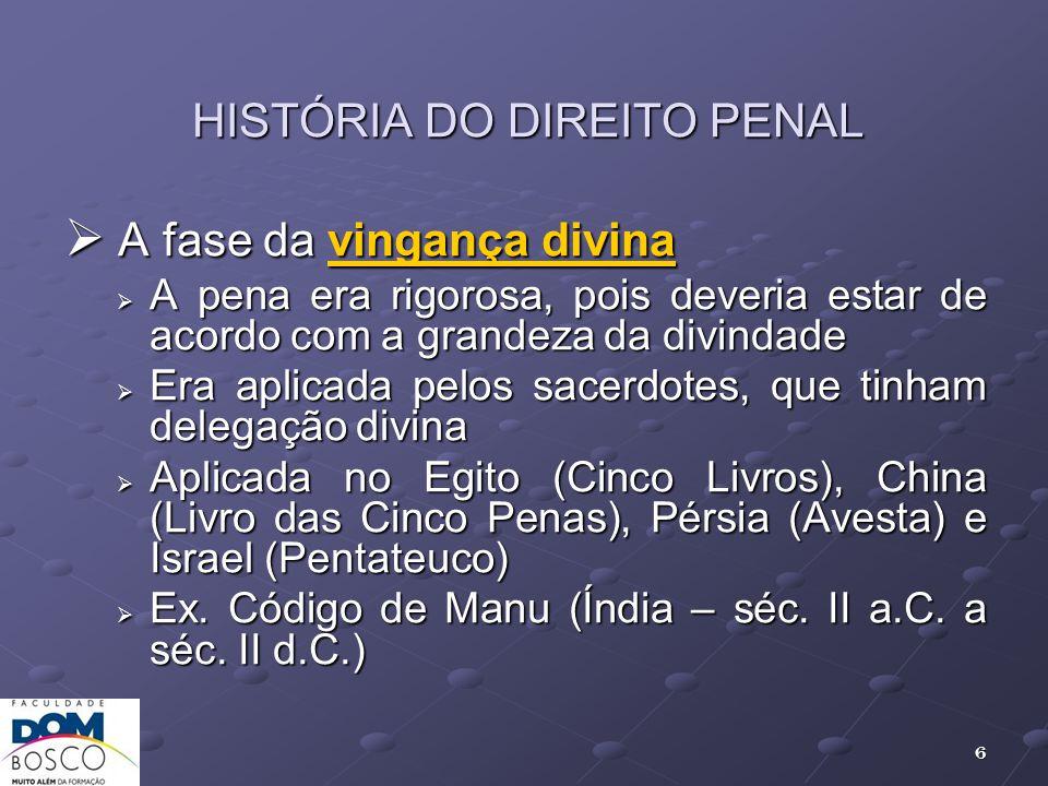 HISTÓRIA DO DIREITO PENAL
