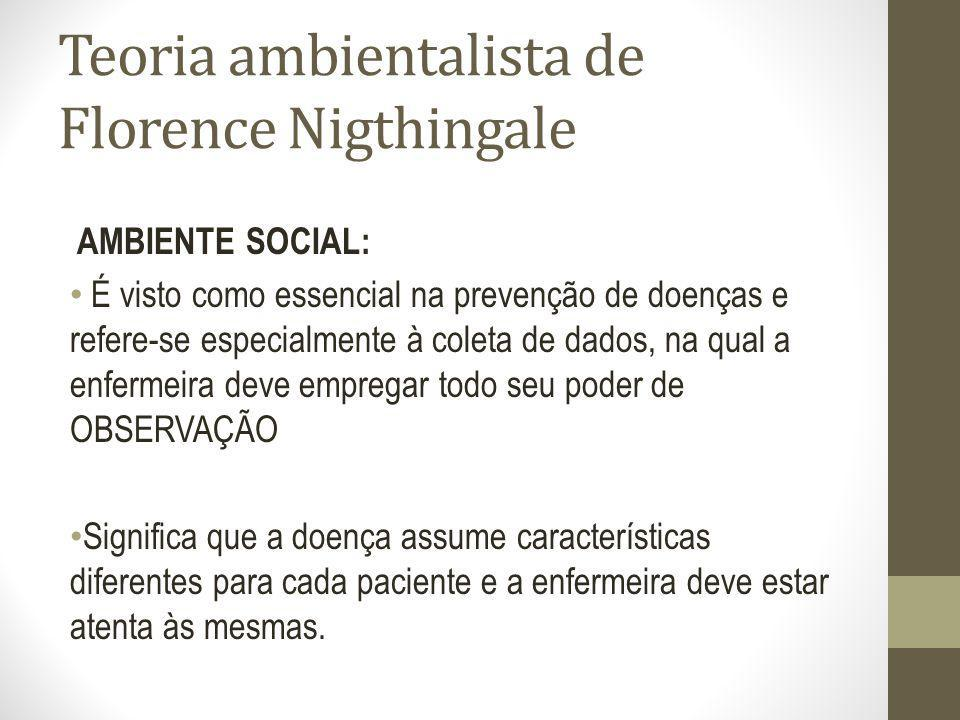 Teoria ambientalista de Florence Nigthingale