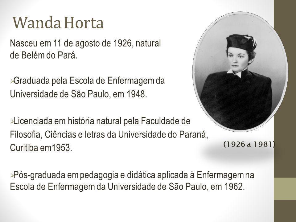 Wanda Horta Nasceu em 11 de agosto de 1926, natural de Belém do Pará.