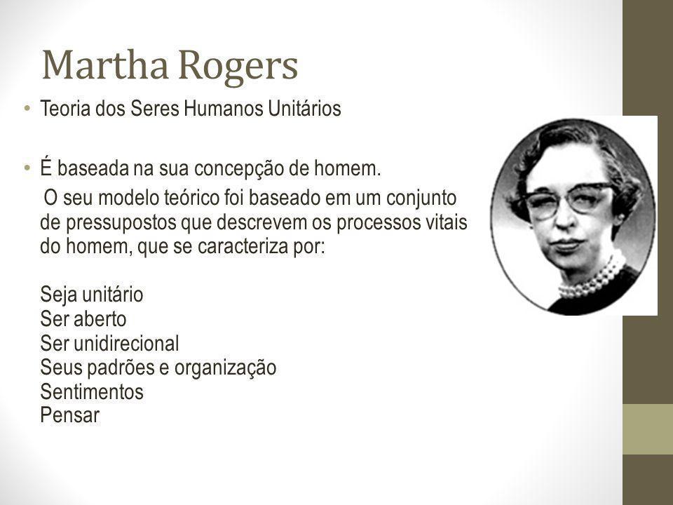 Martha Rogers Teoria dos Seres Humanos Unitários