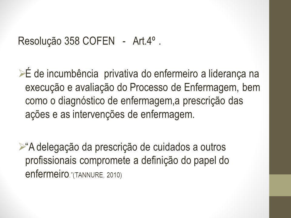Resolução 358 COFEN - Art.4º .