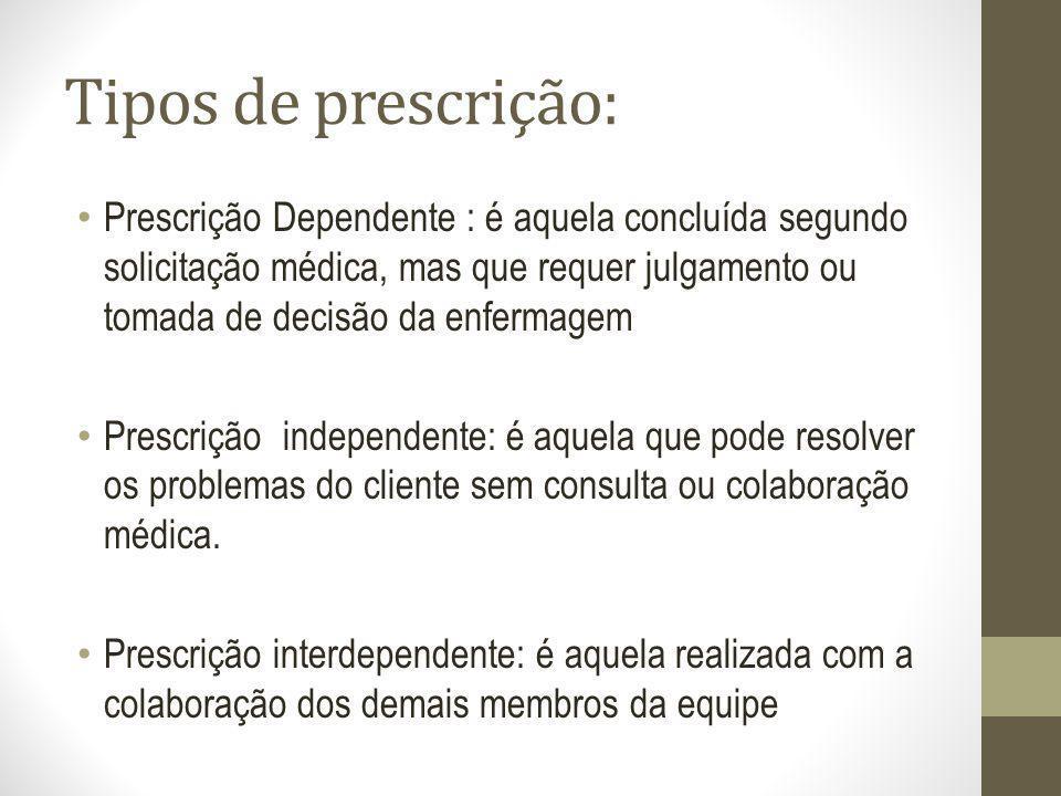 Tipos de prescrição: