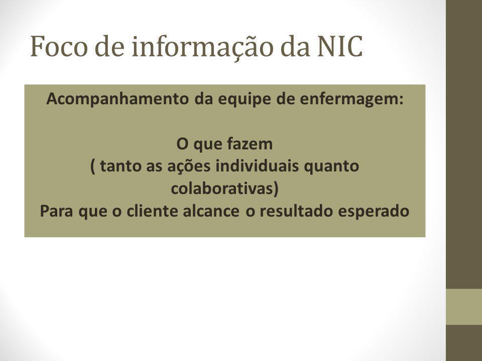 Foco de informação da NIC
