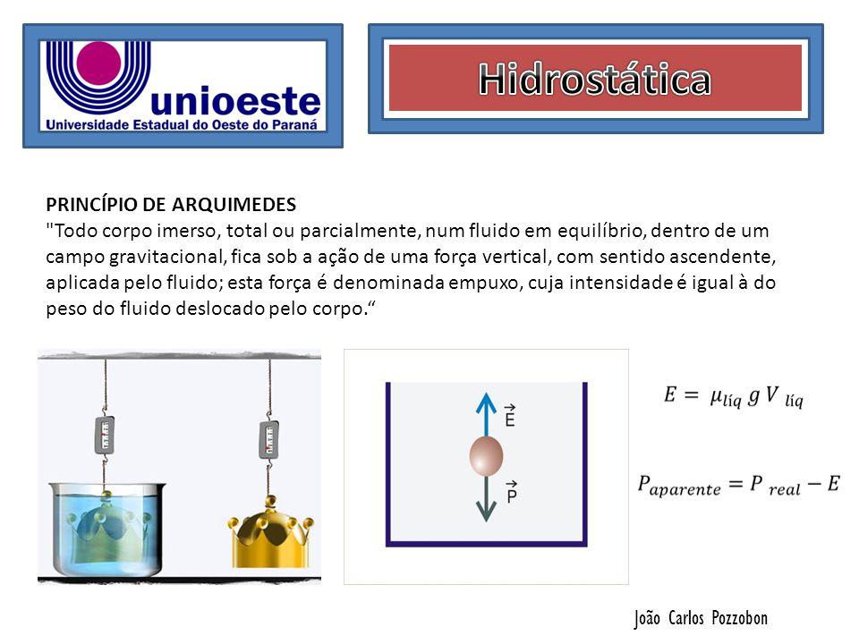 Hidrostática PRINCÍPIO DE ARQUIMEDES