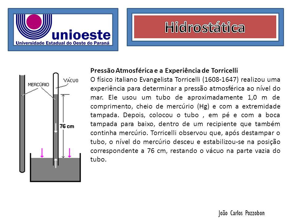 Hidrostática Pressão Atmosférica e a Experiência de Torricelli