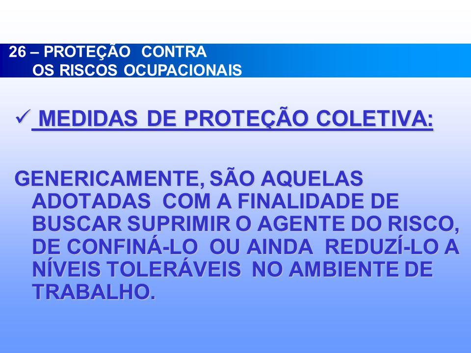 MEDIDAS DE PROTEÇÃO COLETIVA: