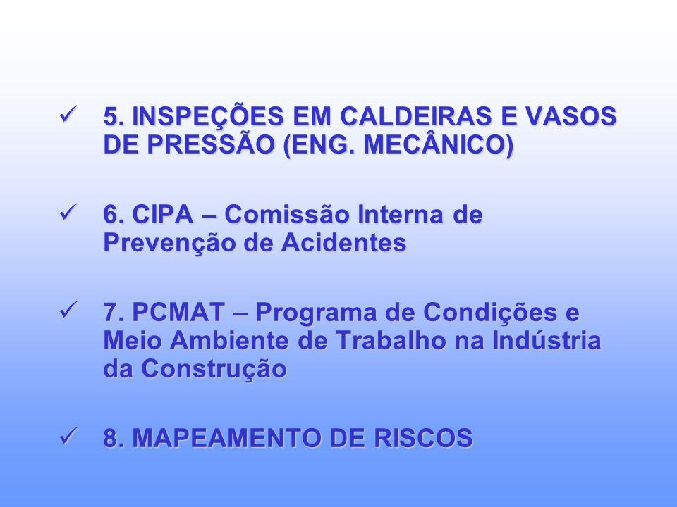 5. INSPEÇÕES EM CALDEIRAS E VASOS DE PRESSÃO (ENG. MECÂNICO)