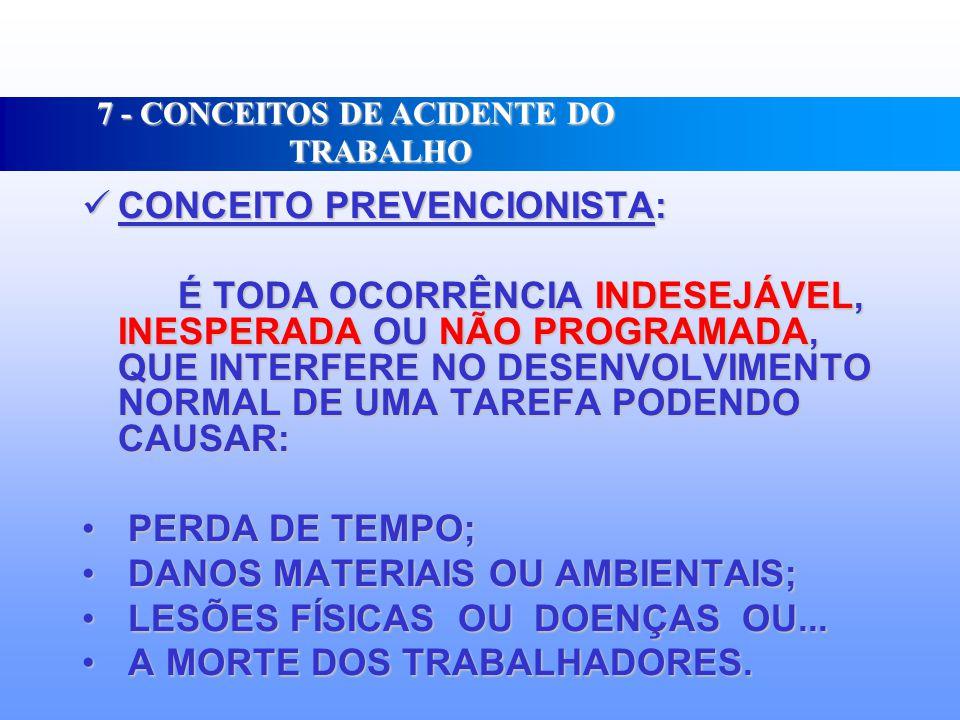 7 - CONCEITOS DE ACIDENTE DO TRABALHO