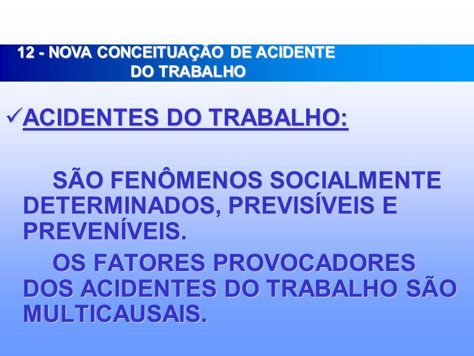 12 - NOVA CONCEITUAÇÃO DE ACIDENTE DO TRABALHO