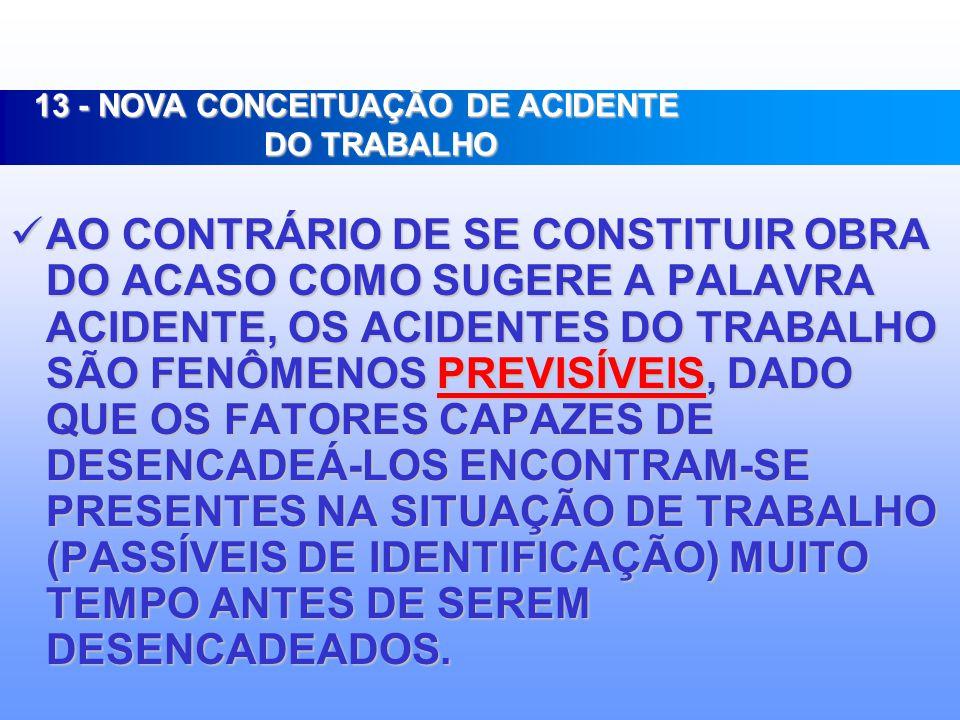 13 - NOVA CONCEITUAÇÃO DE ACIDENTE DO TRABALHO