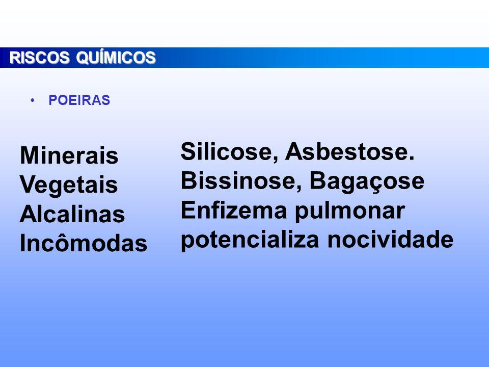 potencializa nocividade Minerais Vegetais Alcalinas Incômodas
