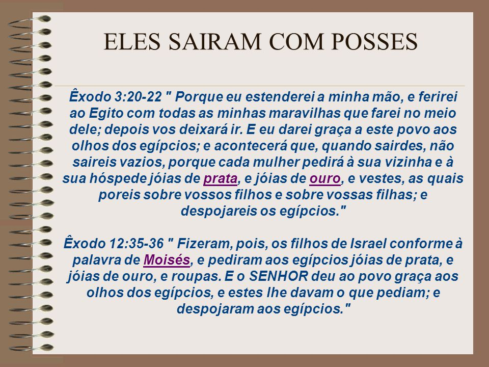 ELES SAIRAM COM POSSES