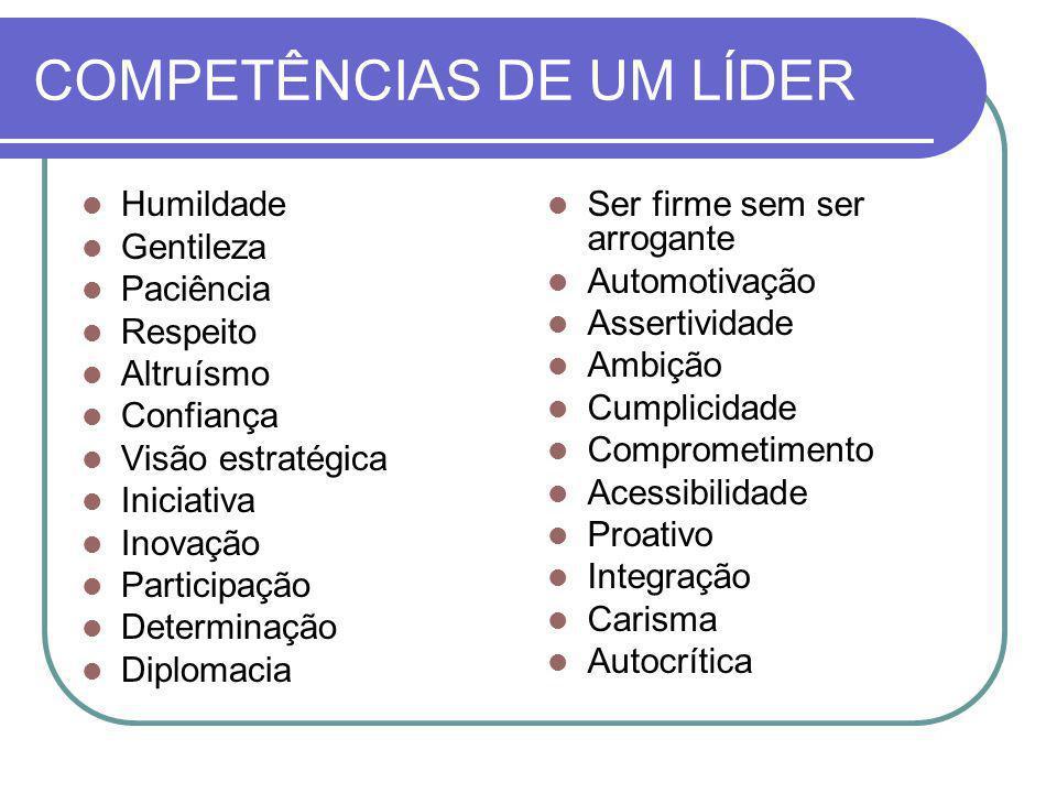 COMPETÊNCIAS DE UM LÍDER