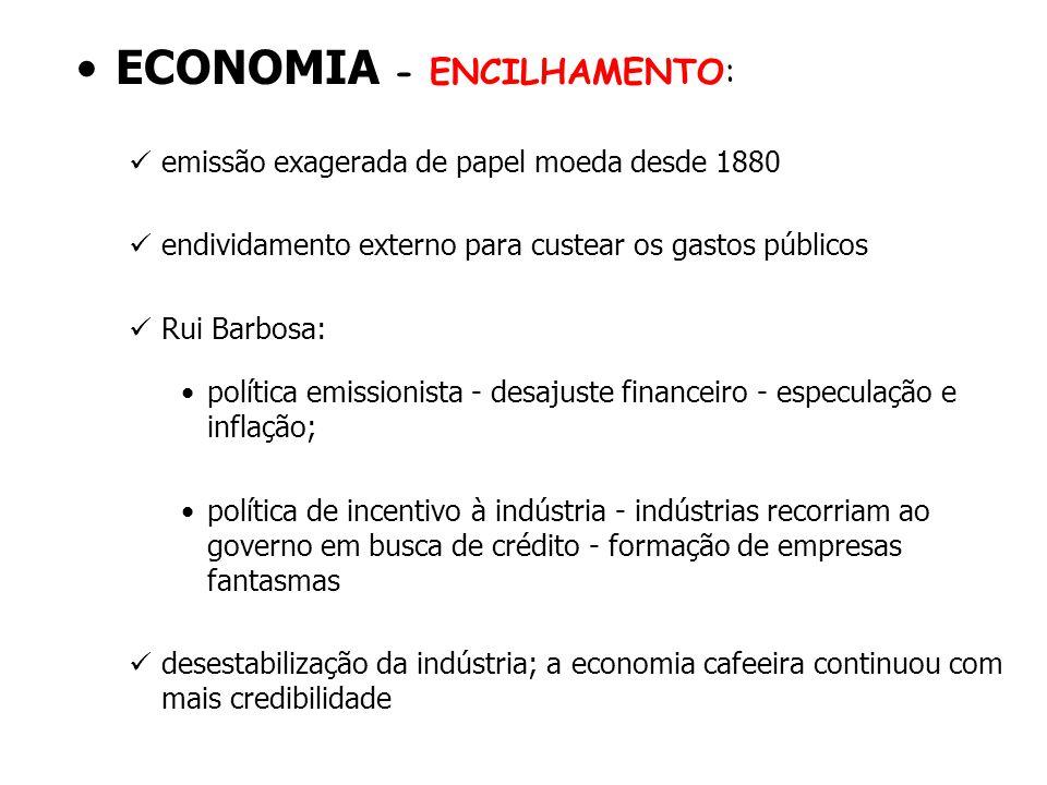 ECONOMIA - ENCILHAMENTO: