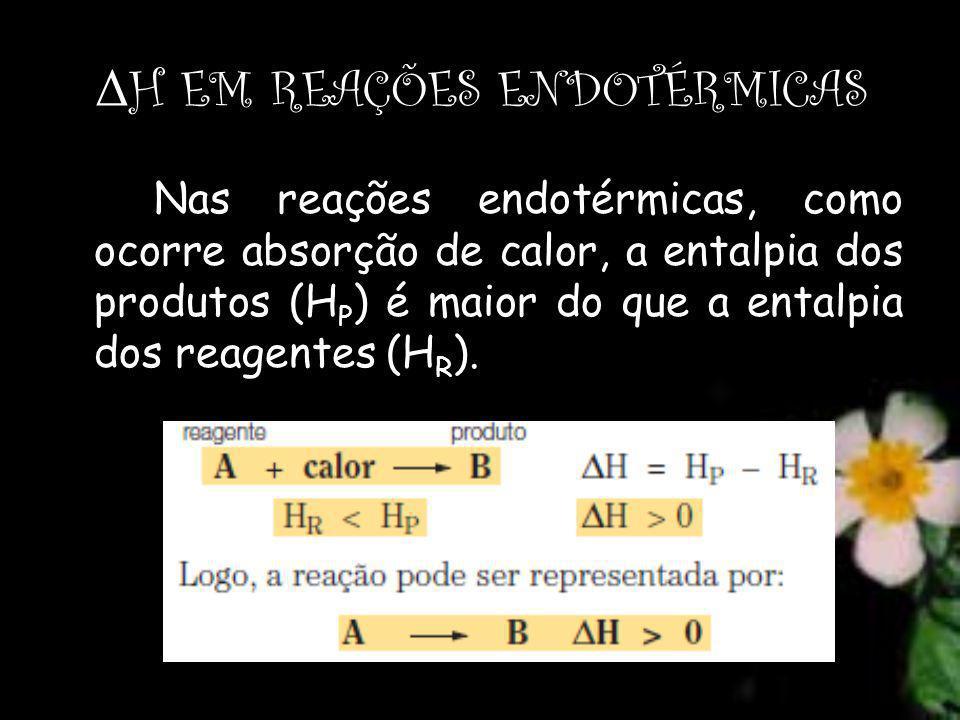 ΔH EM REAÇÕES ENDOTÉRMICAS