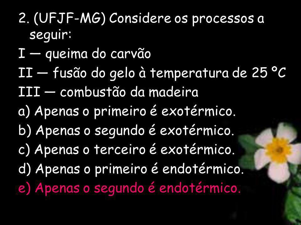 2. (UFJF-MG) Considere os processos a seguir: