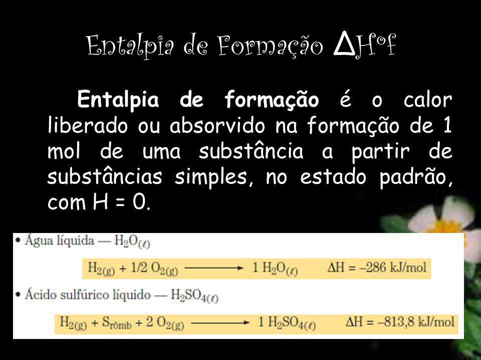 Entalpia de Formação ΔHºf