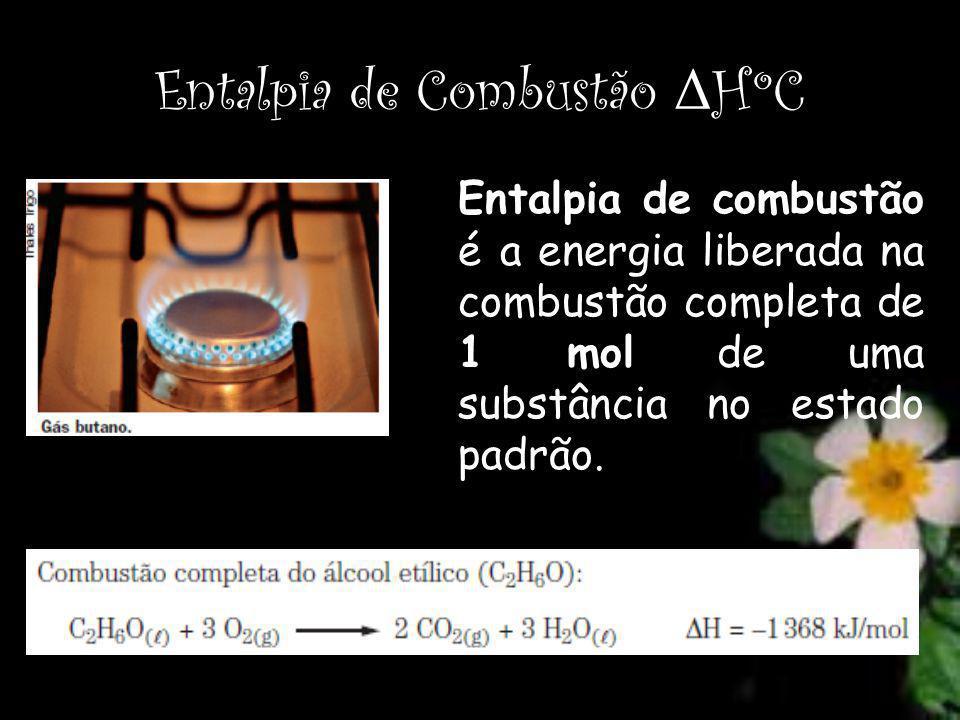Entalpia de Combustão ΔHºC