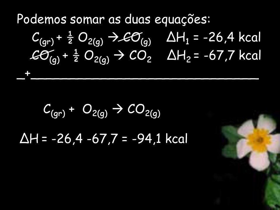 Podemos somar as duas equações: