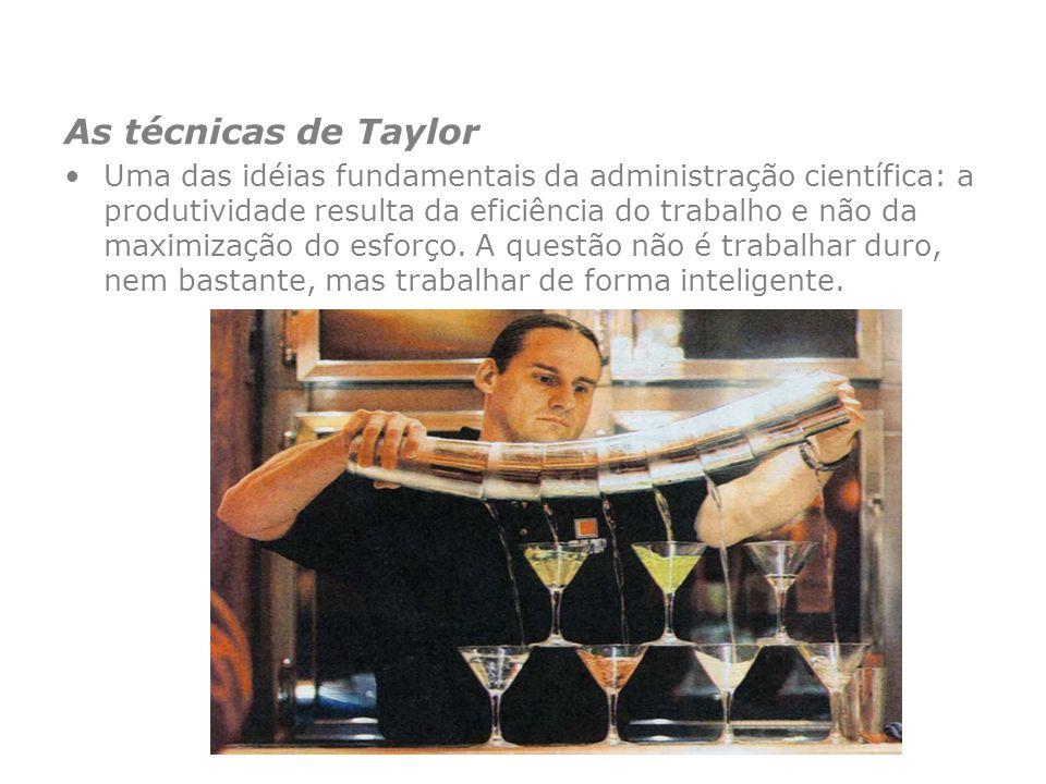 As técnicas de Taylor