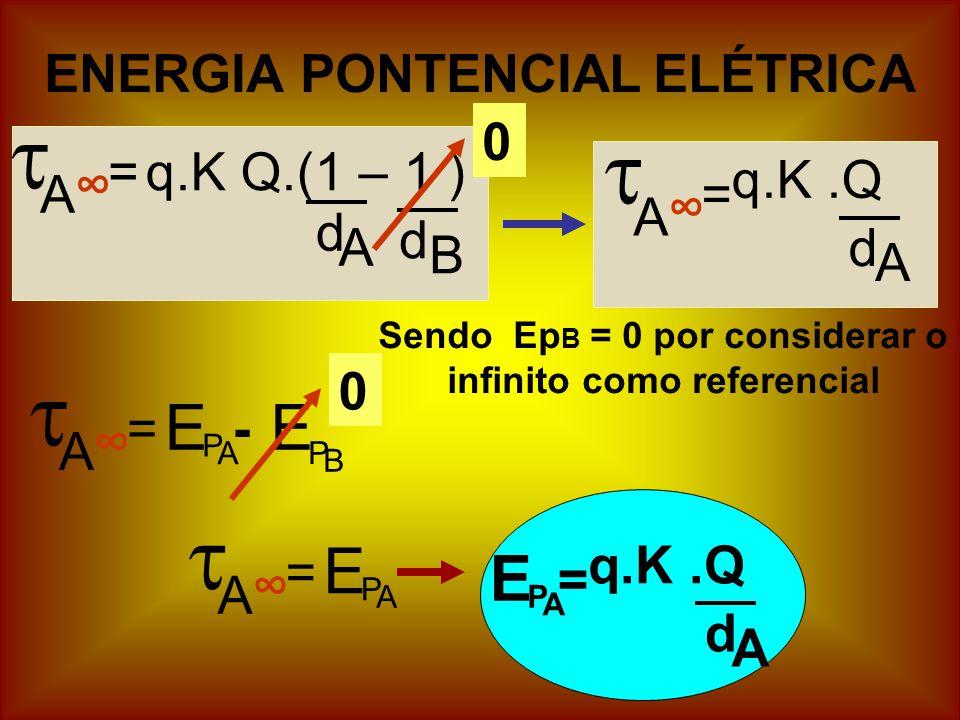 Sendo EpB = 0 por considerar o infinito como referencial