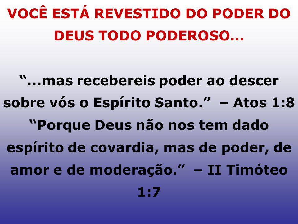 VOCÊ ESTÁ REVESTIDO DO PODER DO DEUS TODO PODEROSO...