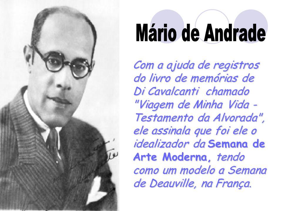 Mário de Andrade Com a ajuda de registros do livro de memórias de