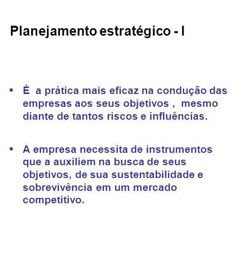 Planejamento estratégico - I