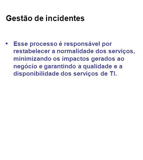 Gestão de incidentes