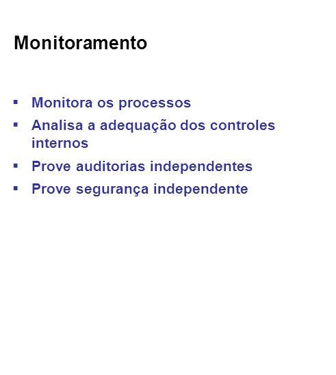 Monitoramento Monitora os processos