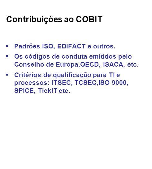 Contribuições ao COBIT