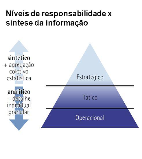 Níveis de responsabilidade x síntese da informação