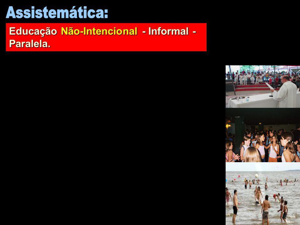 Assistemática: Educação Não-Intencional - Informal - Paralela.
