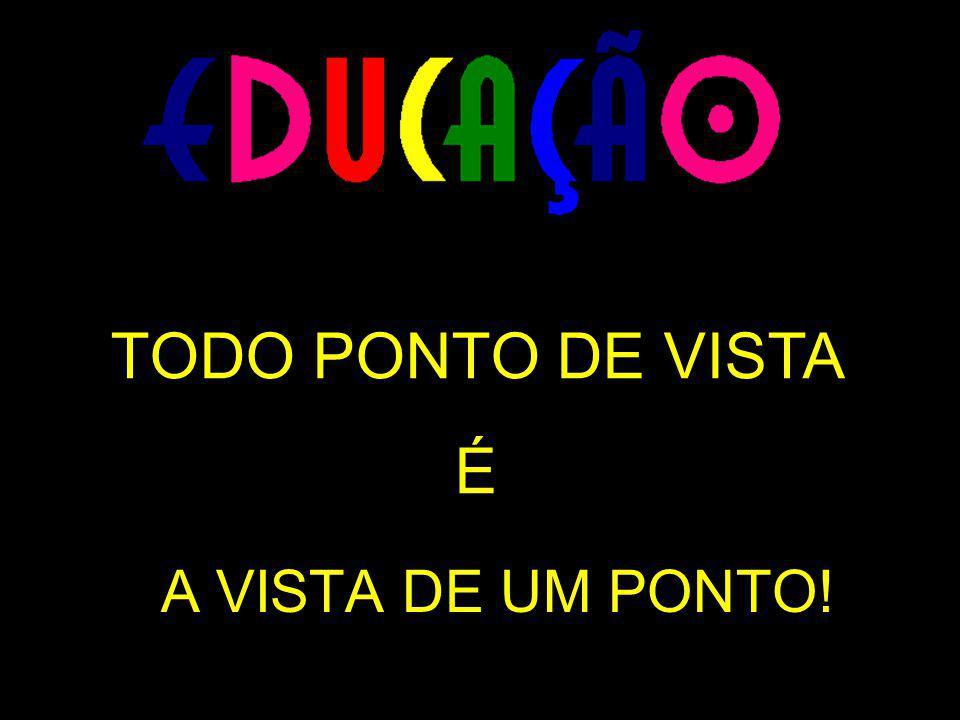 TODO PONTO DE VISTA É A VISTA DE UM PONTO!
