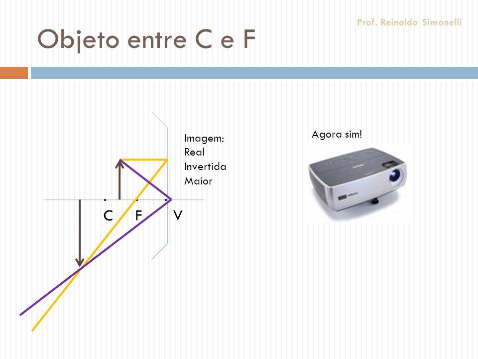 Objeto entre C e F . C . F . V Agora sim! Imagem: Real Invertida Maior