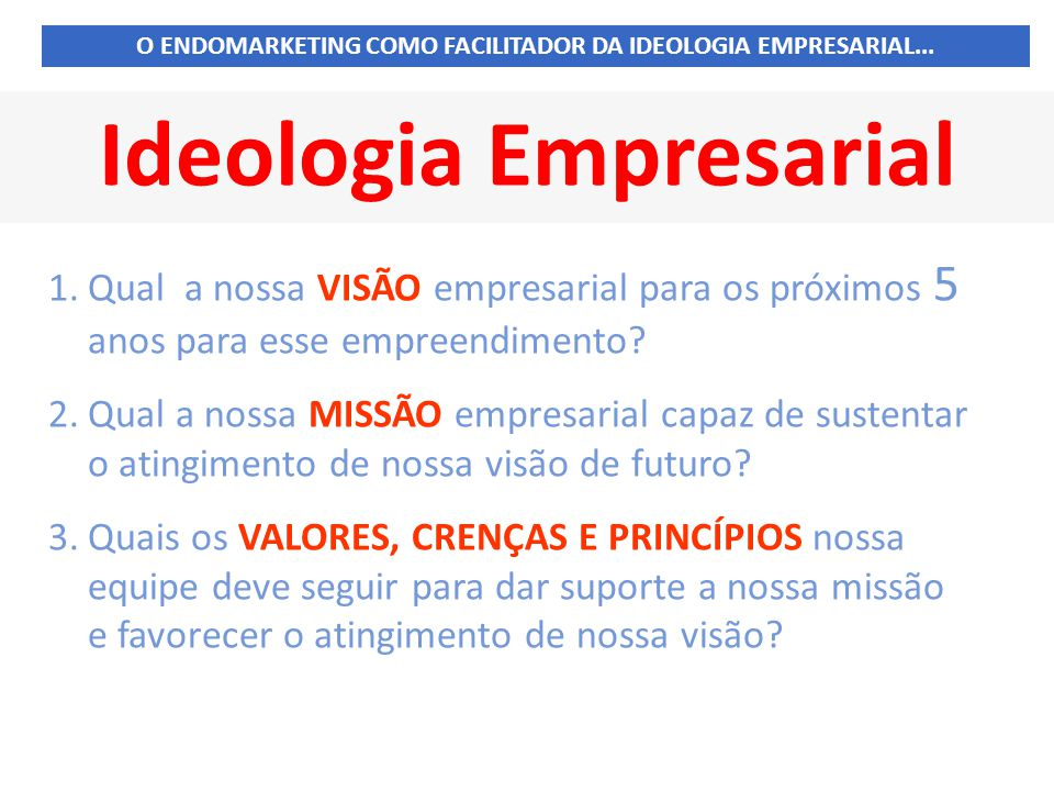 Ideologia Empresarial
