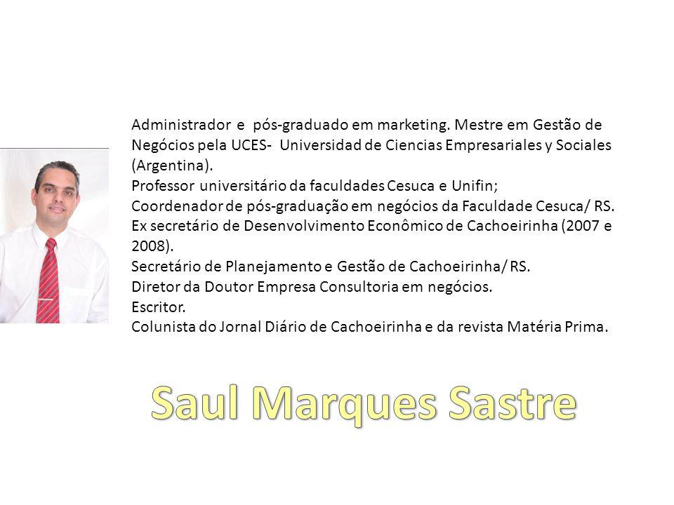 Administrador e pós-graduado em marketing