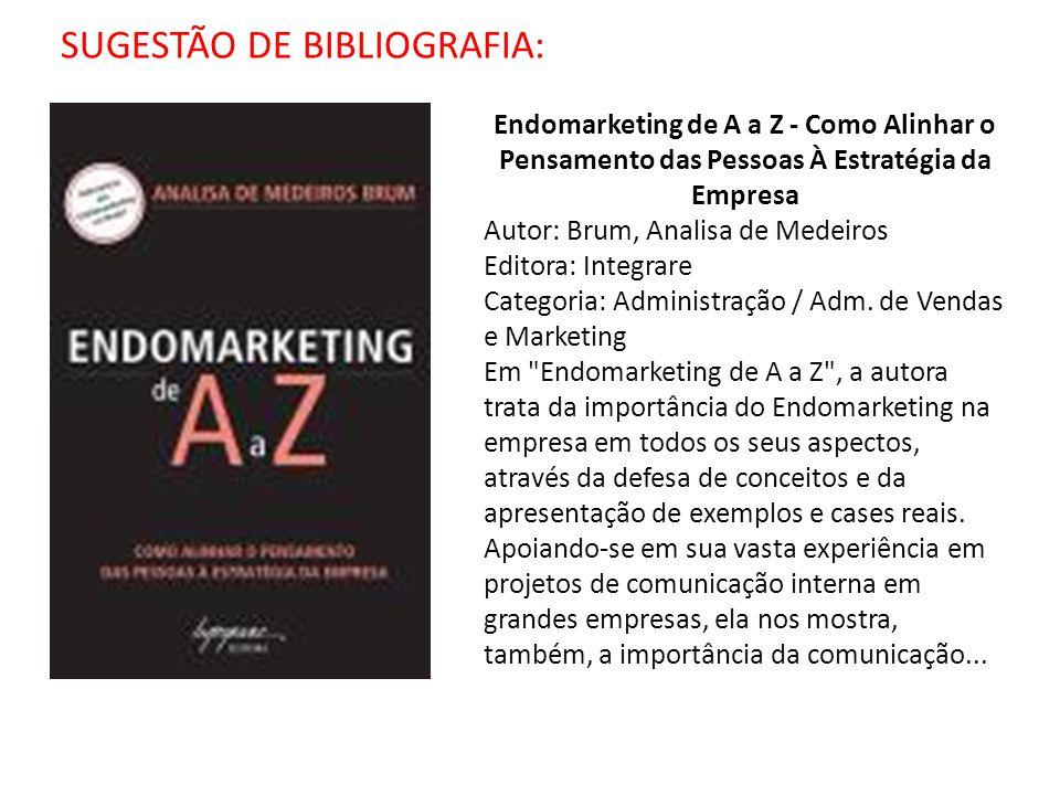 SUGESTÃO DE BIBLIOGRAFIA: