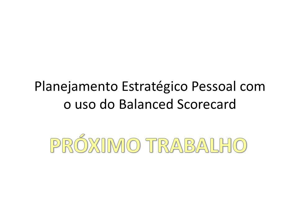 Planejamento Estratégico Pessoal com o uso do Balanced Scorecard