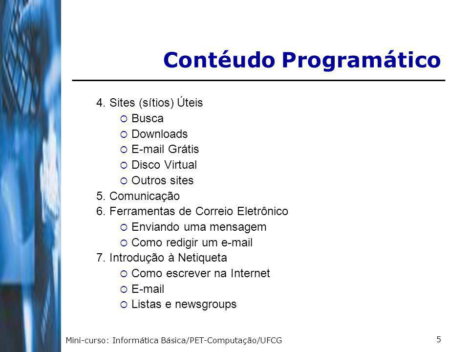 Contéudo Programático