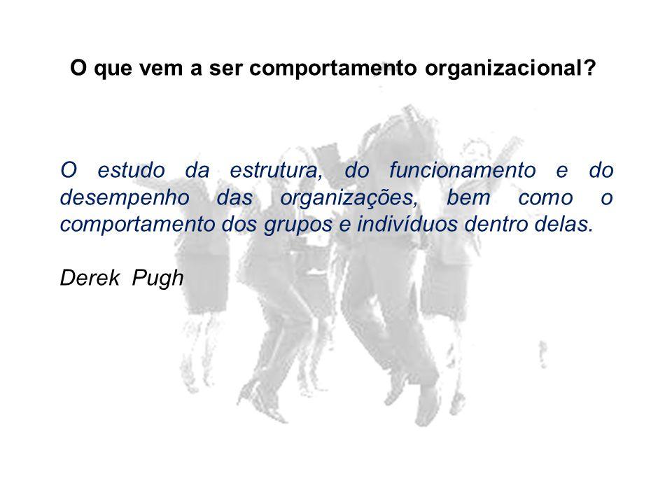 O que vem a ser comportamento organizacional