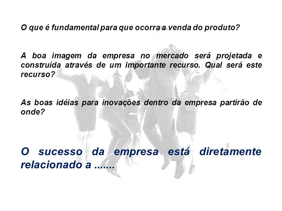 O sucesso da empresa está diretamente relacionado a .......