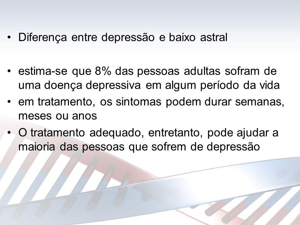 Diferença entre depressão e baixo astral