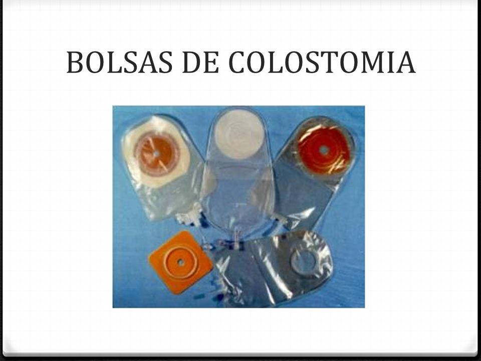 BOLSAS DE COLOSTOMIA