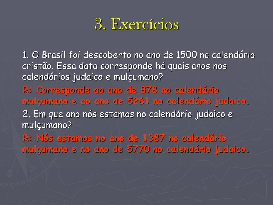 3. Exercícios