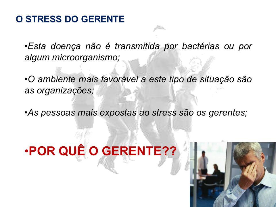 POR QUÊ O GERENTE O STRESS DO GERENTE