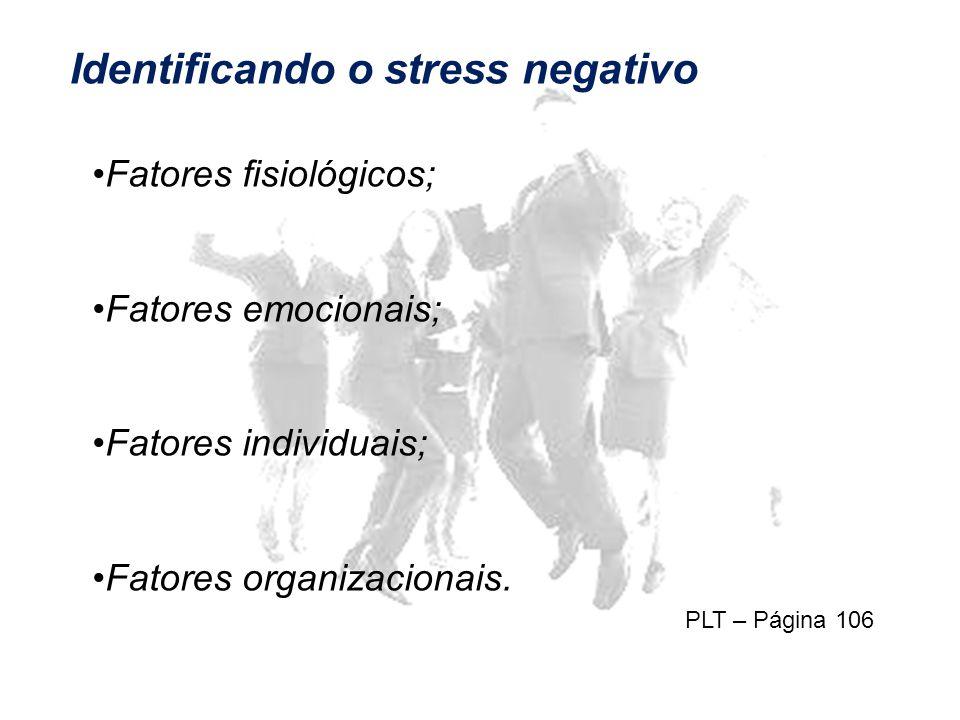 Identificando o stress negativo