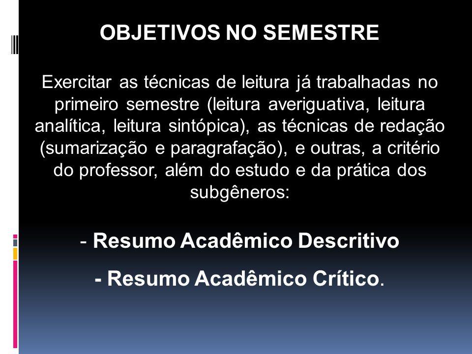 Resumo Acadêmico Descritivo