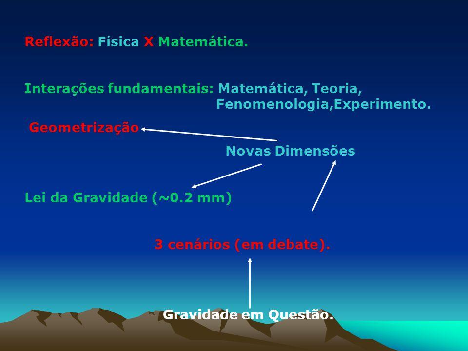 Reflexão: Física X Matemática.